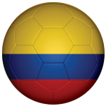 Colombia Football Flag 25mm Button Badge